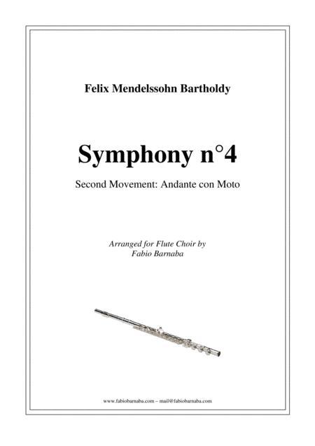 Mendelssohn's Fourth Symphony (Second Movement) - for Flute Choir