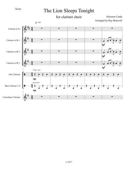 The Lion Sleeps Tonight (Clarinet Choir)
