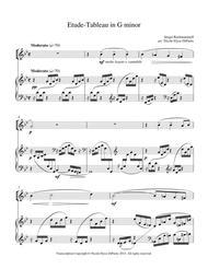 Rachmaninoff - Etude-Tableau in G minor op. 33 no. 7 arr. for Piano and Violin
