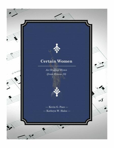 Certain Women - an original hymn for SATB voices