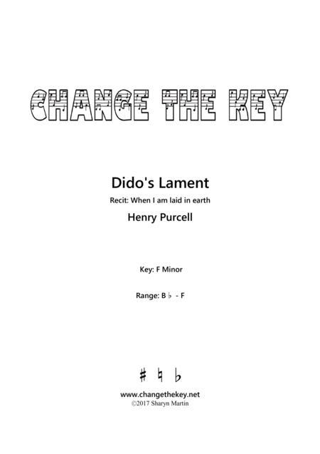 Dido's Lament - F Minor
