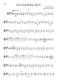 Brahms - Love Song Waltzes Op.52 - Viola