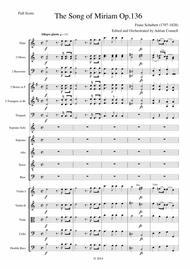 Schubert - The Song of Miriam Op.136 - Full Score