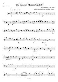 Schubert - The Song of Miriam Op.136 - Bassoon 1