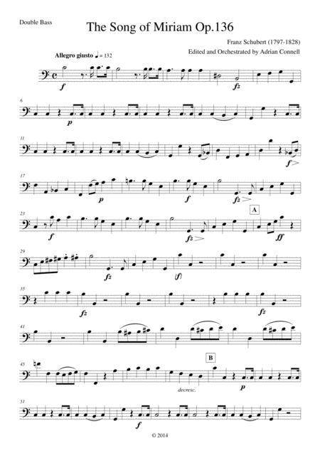 Schubert - The Song of Miriam Op.136 - Double Bass