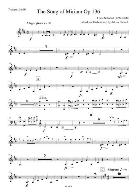 Schubert - The Song of Miriam Op.136 - Trumpet 2