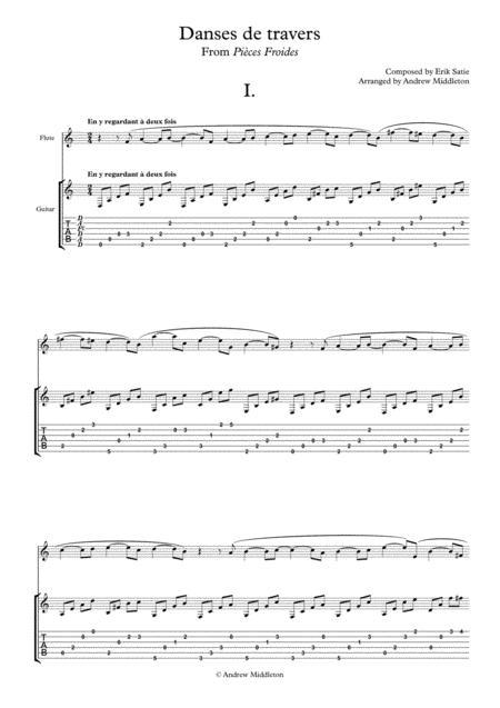 Danses de travers for Flute and Guitar