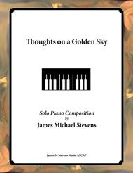 Thoughts on a Golden Sky (Reflective Piano)