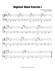 easy blues piano sheet music free