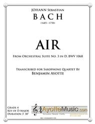 Air from Orchestral Suite No. 3, BWV 1068 transcribed for Saxophone Quartet