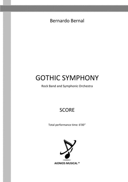 Gothic Symphony - Rock Band and Symphonic Orchestra (Score only)