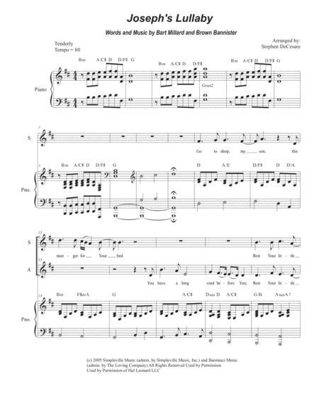 Joseph's Lullaby (Duet for Soprano and Alto Solo)