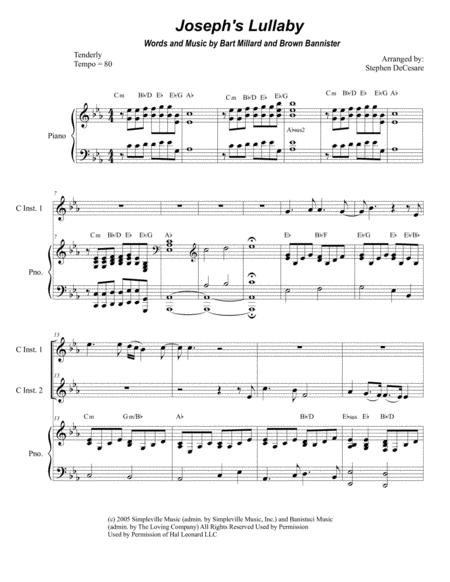 Joseph's Lullaby (Duet for C-Instruments)