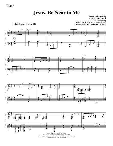 Jesus, Be Near to Me - Piano