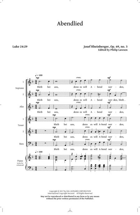 Abendlied, Op. 69, No. 3