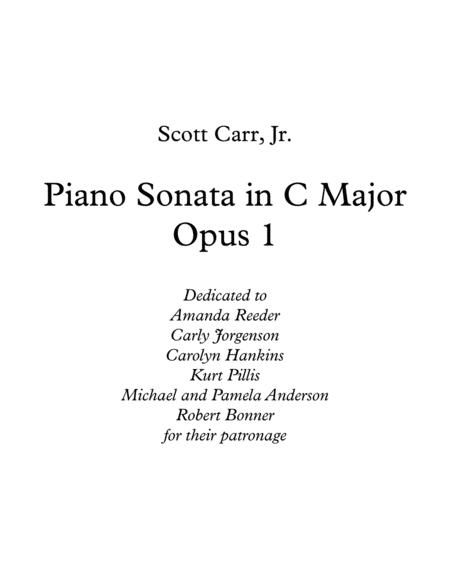 Piano Sonata in C Major, Op. 1