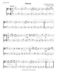 Minuet for Viola and Cello by Telemann