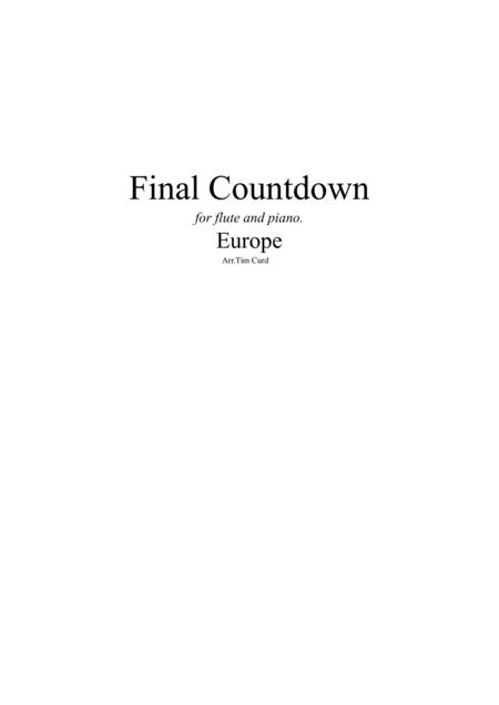 Final Countdown. For Flute and Piano