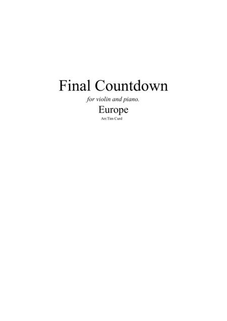 Final Countdown. For Violin and Piano
