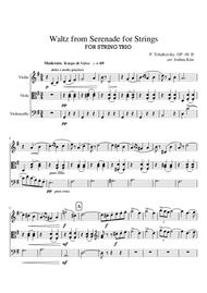 Waltz for STRING TRIO from Serenade for Strings