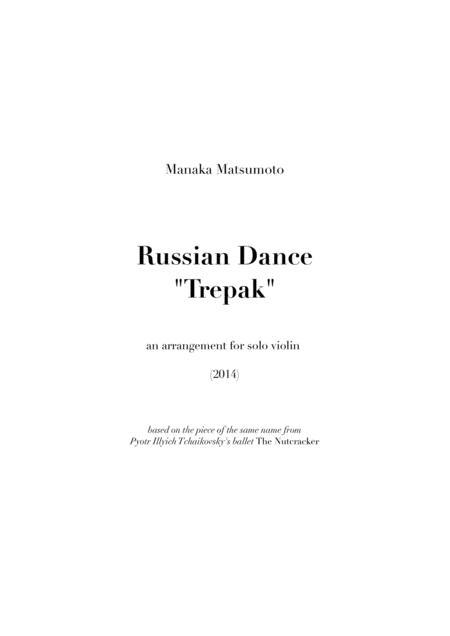 The Nutcracker - Trepak (arr. for solo violin)