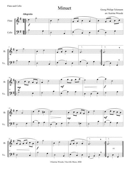 Minuet for Flute and Cello by Telemann