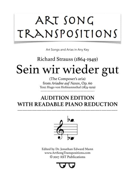Composer's aria (audition edition with readable piano reduction)