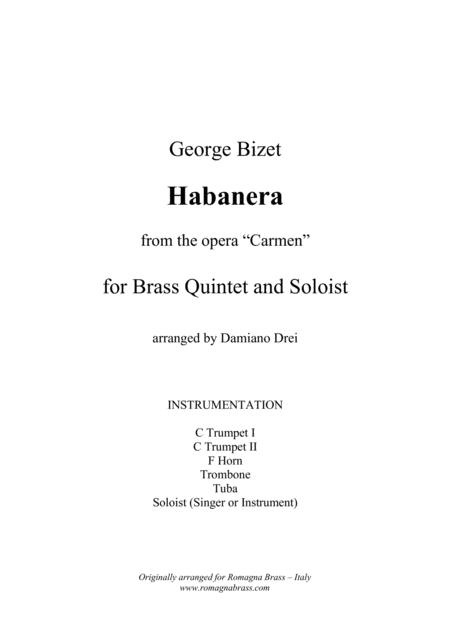 Habanera from Carmen (Brass Quintet and soloist)
