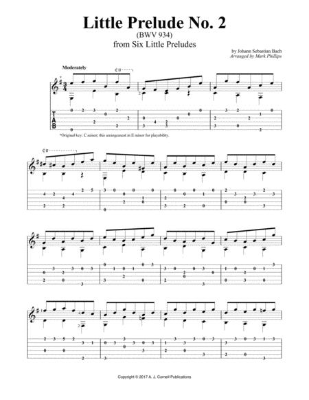 Little Prelude No. 2 (BWV 934)