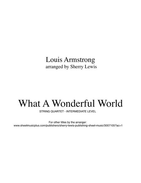What A Wonderful World STRING QUARTET (for string quartet)