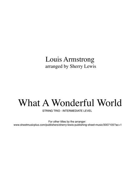 What A Wonderful World for STRING TRIO