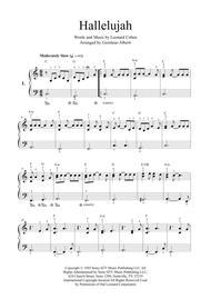 Hallelujah (easy piano - 2 arrangements)