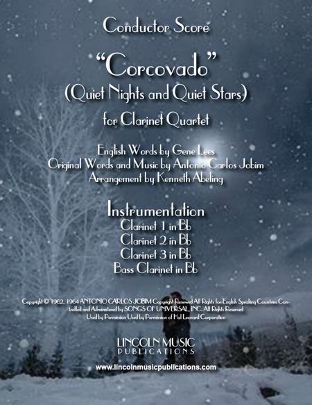 Quiet Nights and Quiet Stars (Corcovado) (for Clarinet Quartet)
