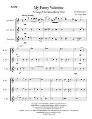 Download My Funny Valentine Saxophone Trio Sheet Music By Elvis