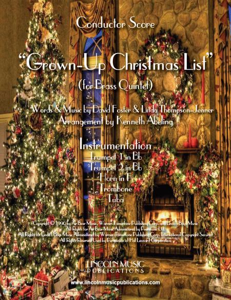 Grown-Up Christmas List (for Brass Quintet)
