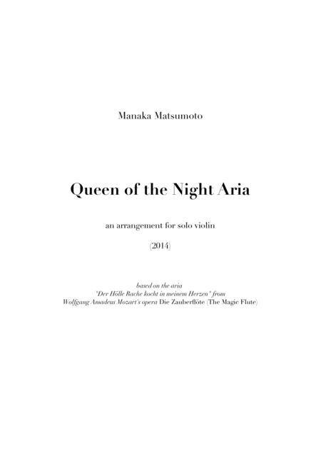 The Magic Flute - Queen of the Night Aria (arr. for solo violin)
