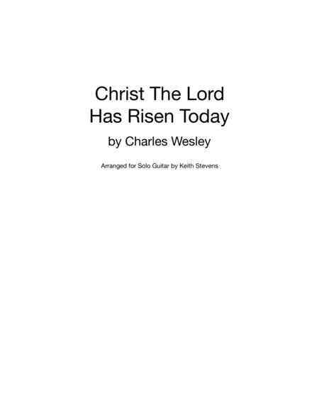 Christ The Lord Has Risen Today for solo guitar