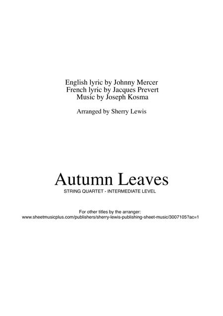 Download Autumn Leaves String Quartet String Trio String Duo Solo