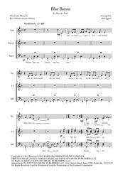 Blue Bayou - Solo + TTBB a cappella