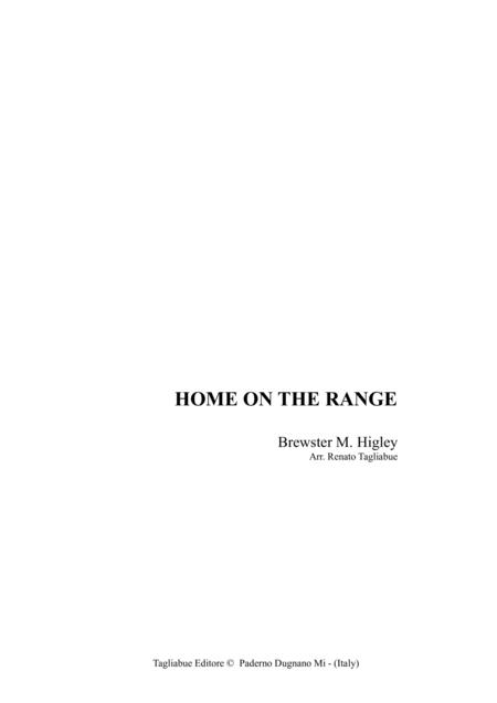 HOME ON THE RANGE - For SATB Choir