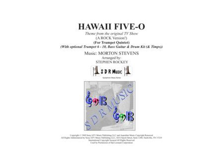 Hawaii Five-O Theme for 5-10 Trumpets, Optional Bass,Kit & Timpani