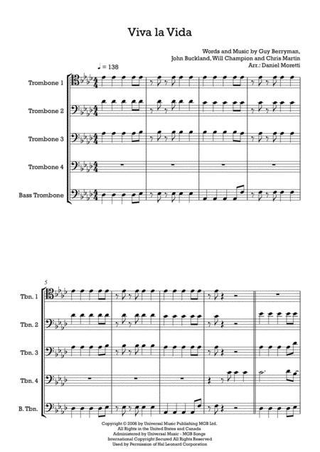 Viva La Vida - Trombone Quintet