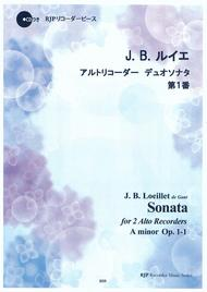 Sonata for 2 Alto Recorders No. 1 in A minor