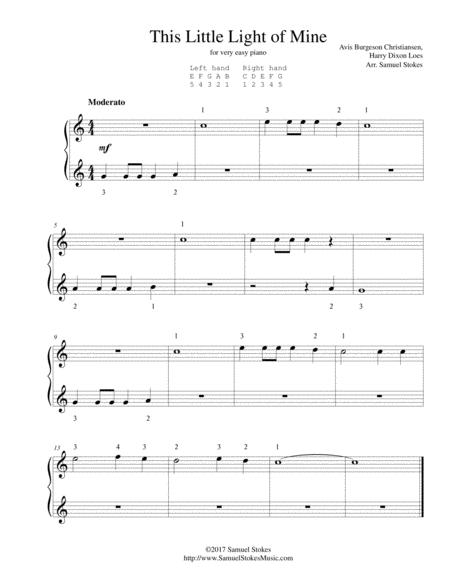 This Little Light of Mine - very easy piano