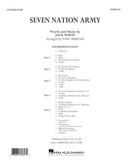 Seven Nation Army - Conductor Score (Full Score)