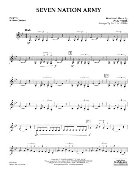 Download Seven Nation Army - Pt.5 - Bb Bass Clarinet Sheet Music By ...