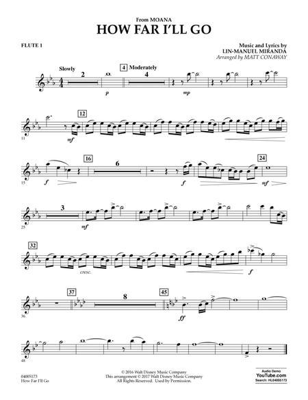 How Far I'll Go (from Moana) - Flute 1