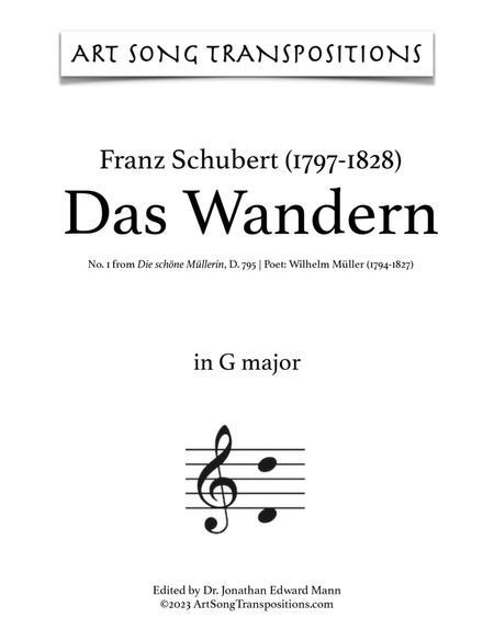 Das Wandern, D. 795 (G major)
