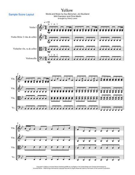 Yellow STRING TRIO (for string trio)