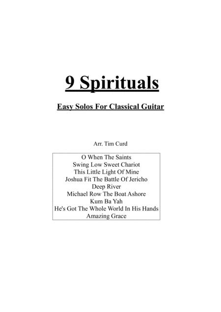 9 Spirituals, For Classical Guitar
